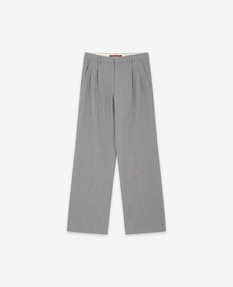 Wool blend wide trousers Grey Declic
