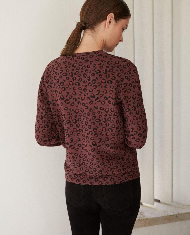 Round neck sweatshirt Leopard decadente chocolate 9gleon