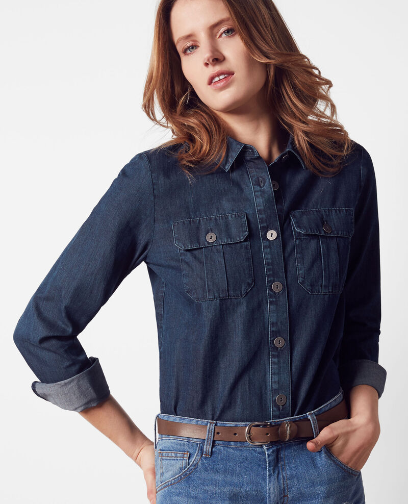 Denim shirt Dark blue Coquelicot