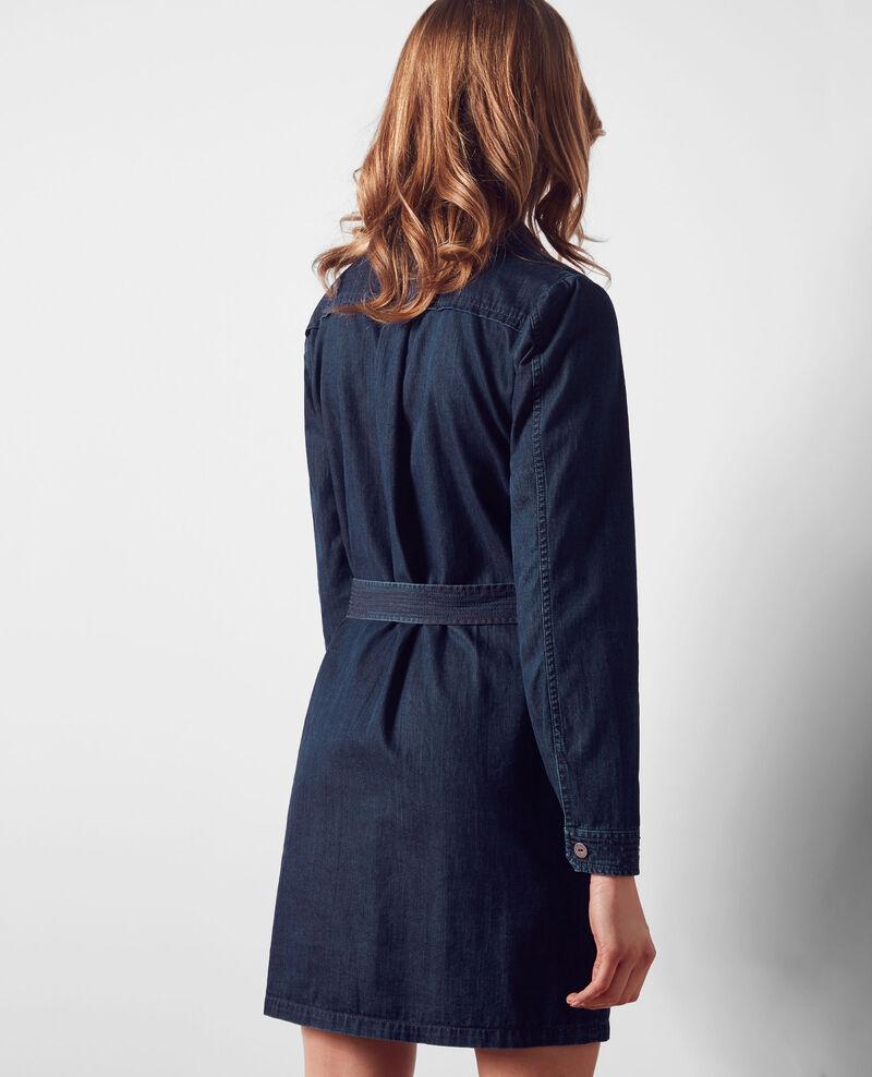 Denim shirt-dress Dark blue Creation