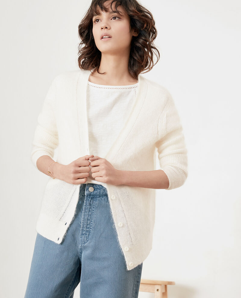 Cardigan with mohair Off white Frisquette