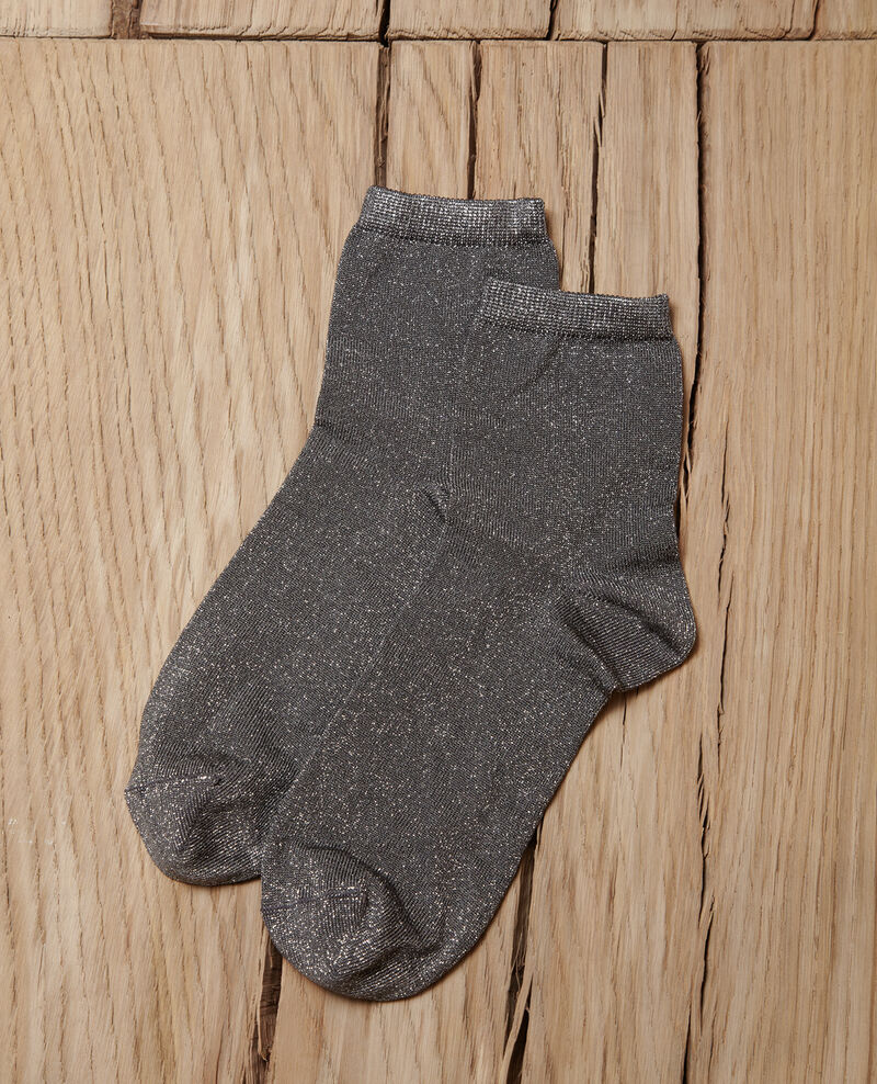Lurex blend socks Medium heather grey Gaussette