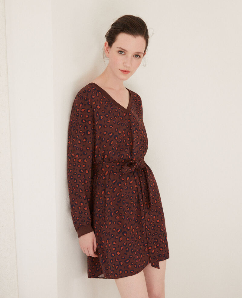 V-neck dress BL DEEP MAHOGANY