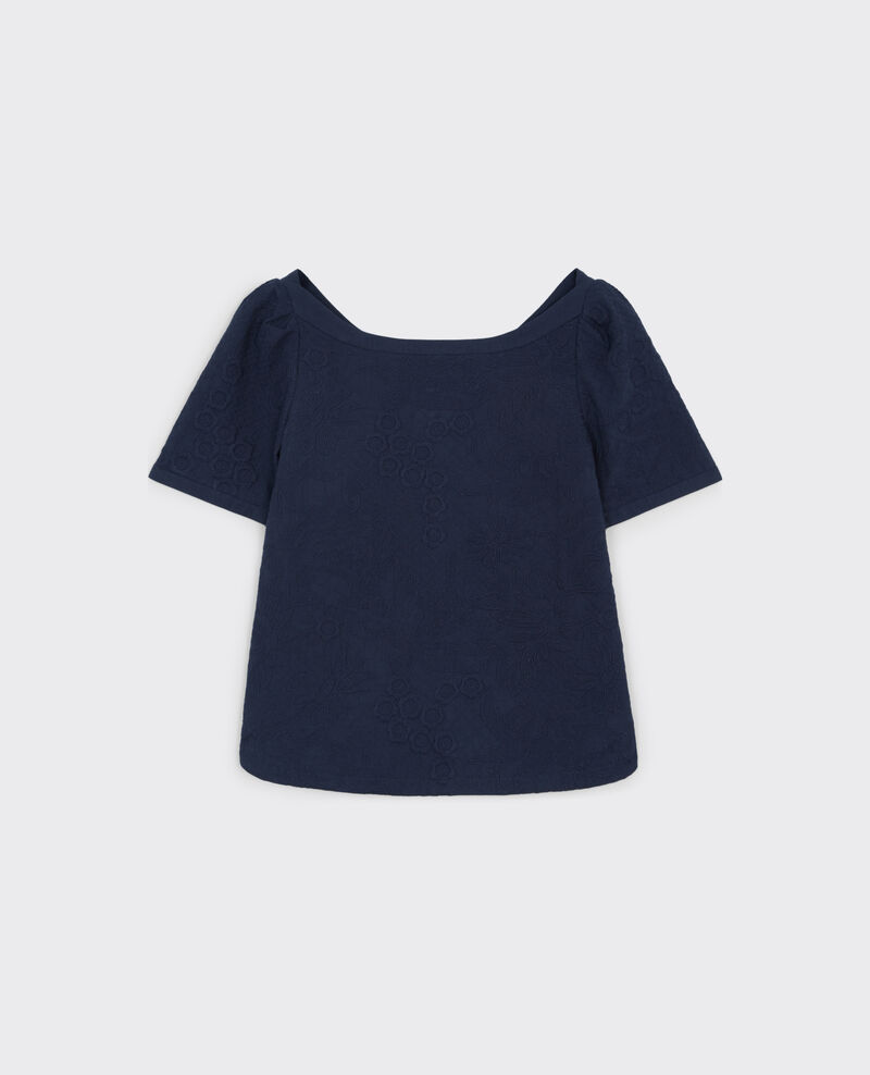 Fully embroidered top Midnight Cacaotier