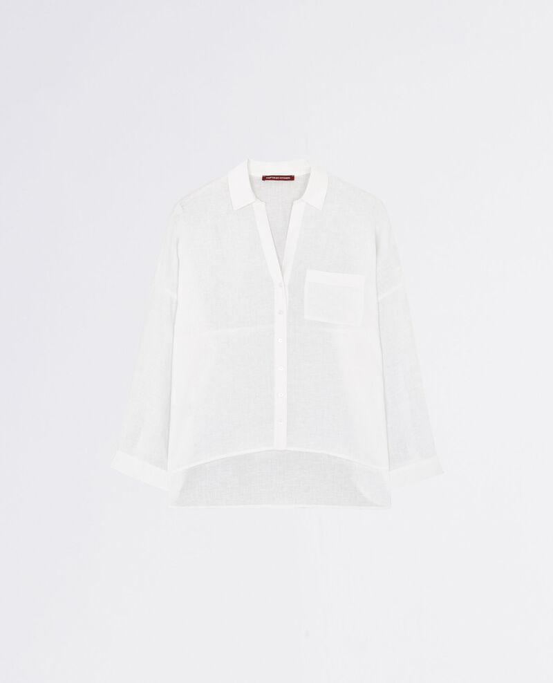 Oversize linen shirt Blanc Cinecourt
