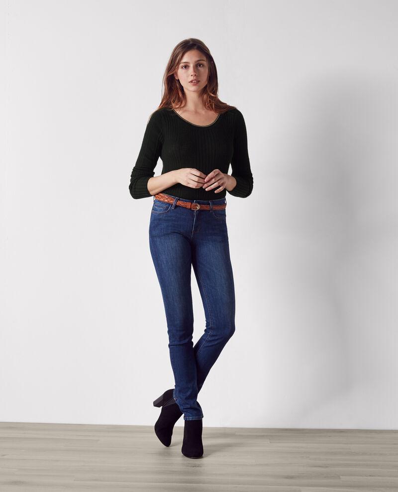 Fine-knit ribbed cashmere jumper Noir/noyer Clemence