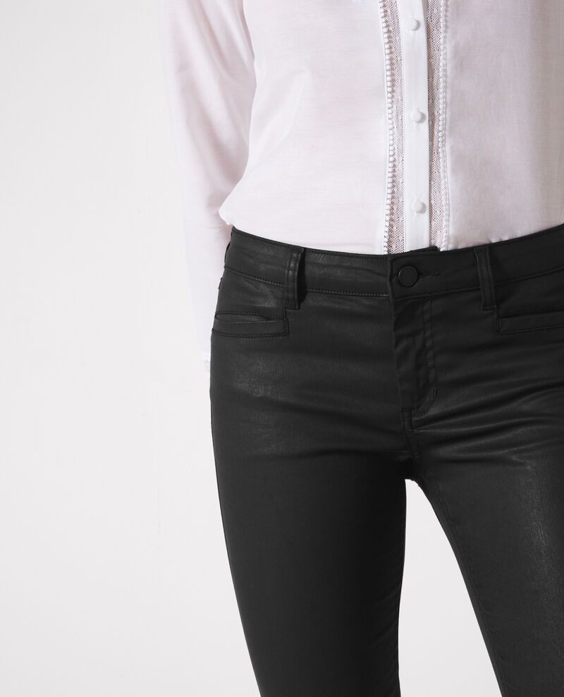 """Ma demoiselle"" resin wash slim-fit jeans Noir Crocodile"