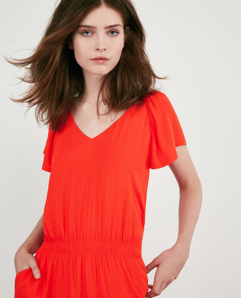 Lightweight dress Orange red Decembre