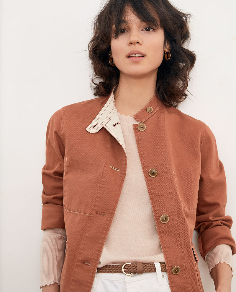 Mandarin collar jacket AUBURN