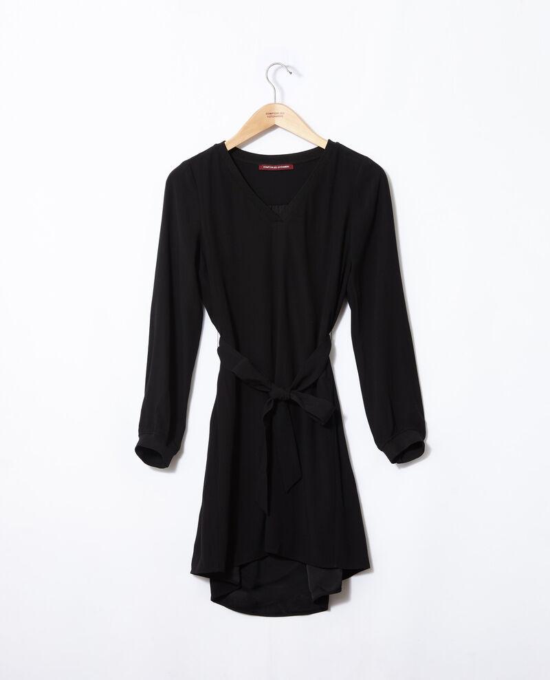 V-neck dress Noir Genevieve