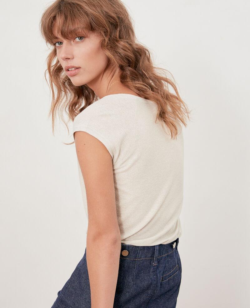 Iridescent T-shirt with linen Chalk Falexia