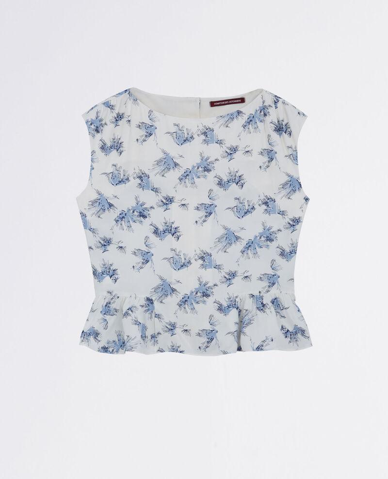 Print blouse Anemone indigo 9cute