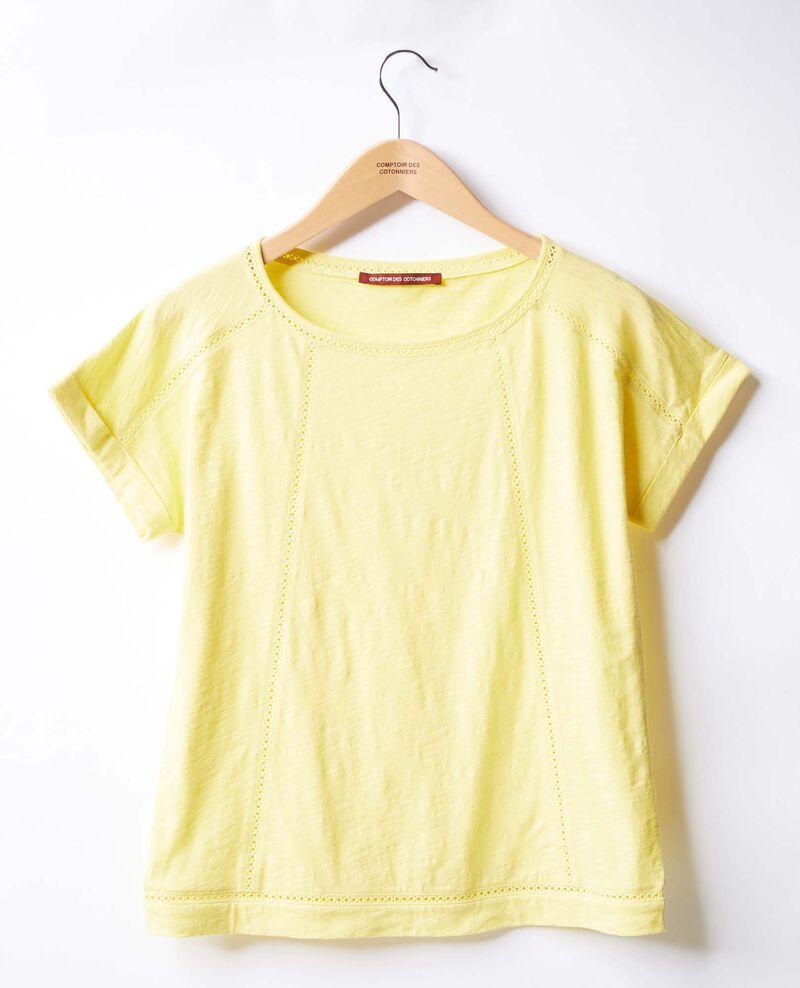 T-shirt with braid Lemonade Fenouil