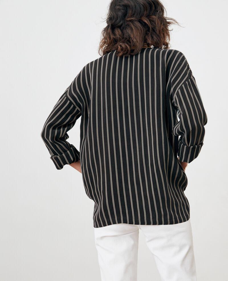 Striped blouse Black/off white stripes Fraise