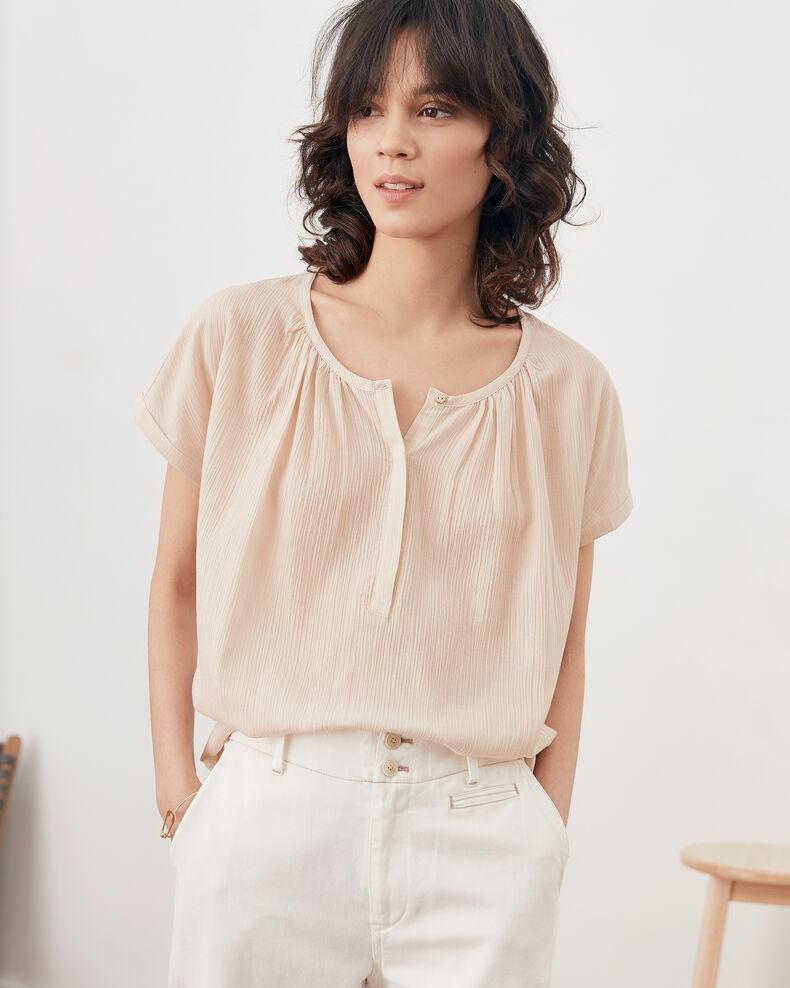 Bimaterial T-shirt BISCUIT