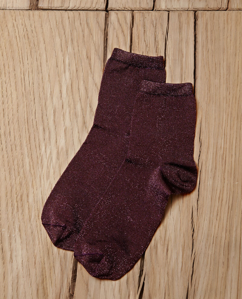 Lurex blend socks PARACHUTE PURPLE