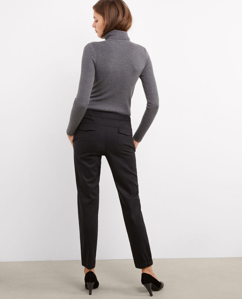 Flannel trousers Dark heather grey Bikrami