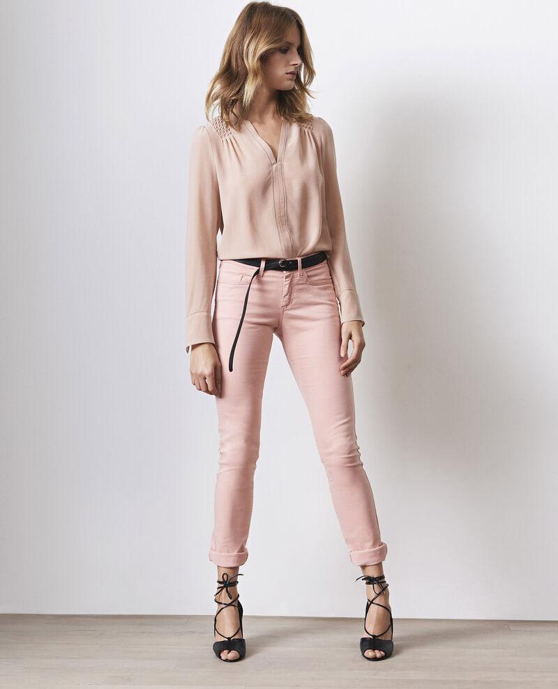 Fille dans le vent velvety-feel straight jeans  Peach Cigogne