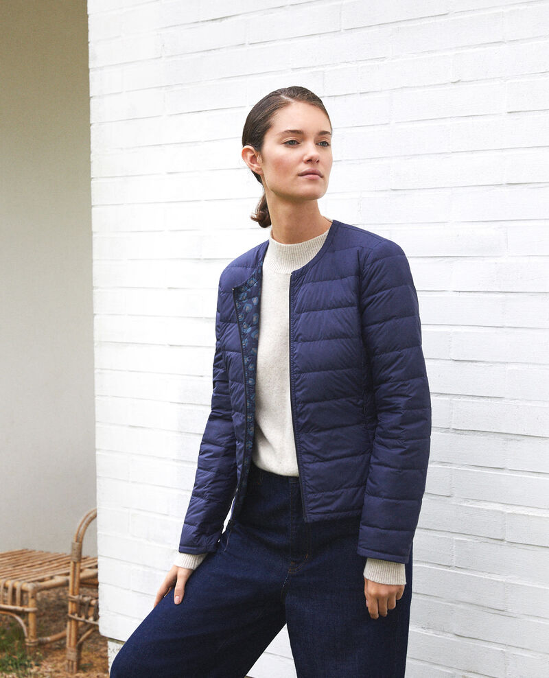 Reversible Mademoiselle Plume jacket Bl peacoat Gallopou