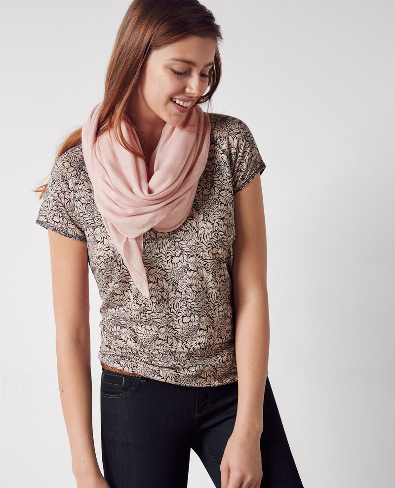 Square scarf Misty rose Ciarritz