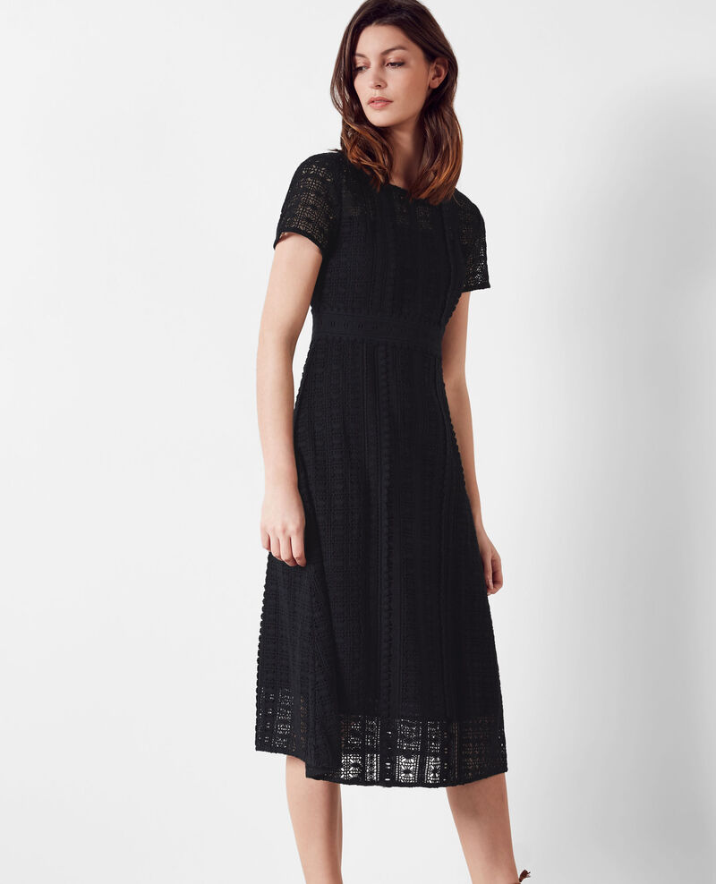 Guipure and lace dress Noir Casablanca