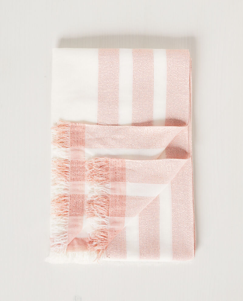 Scarf with sparkly details Off white/cooper Cintillante