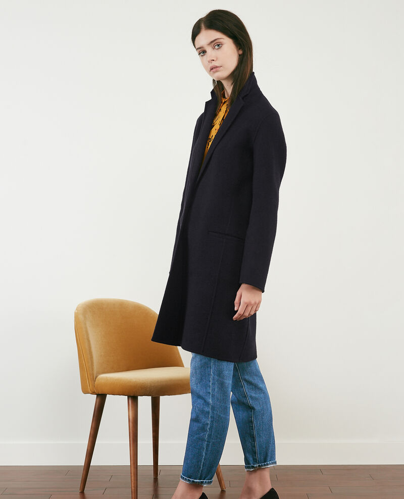 Double-faced wool coat Navy Dexpresso