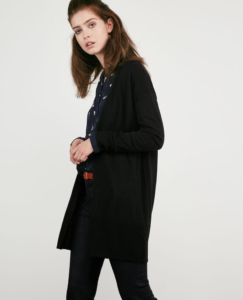 100% merino cardigan Noir Dippex