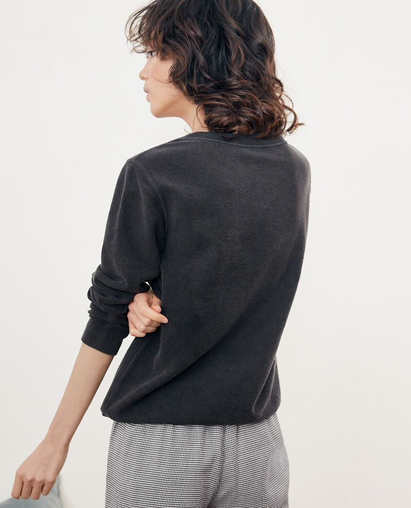 Inside-out Léon sweater Noir Fievre