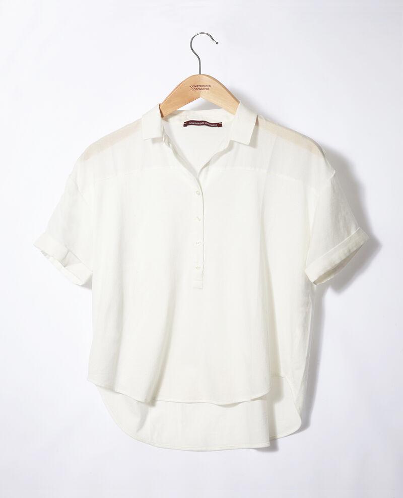 Bimaterial shirt Off white Gaite