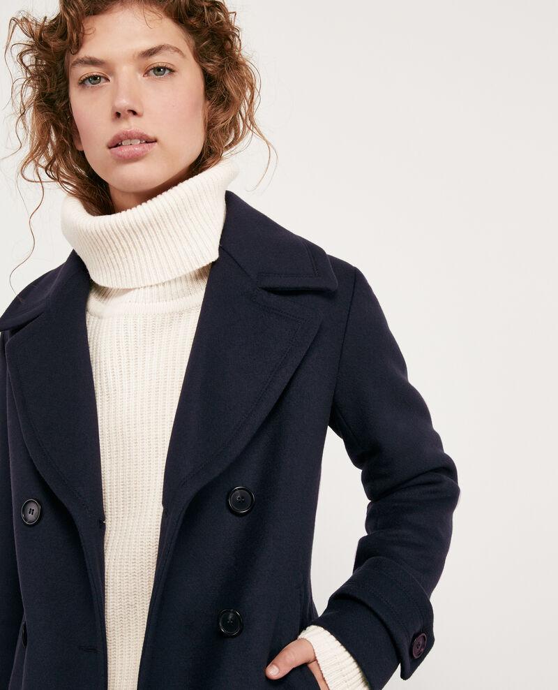 Wool blend pea coat Navy Didanglas
