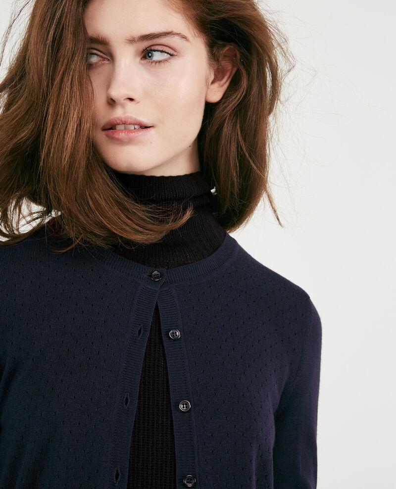 Lightweight merino wool cardigan Navy Dappeau