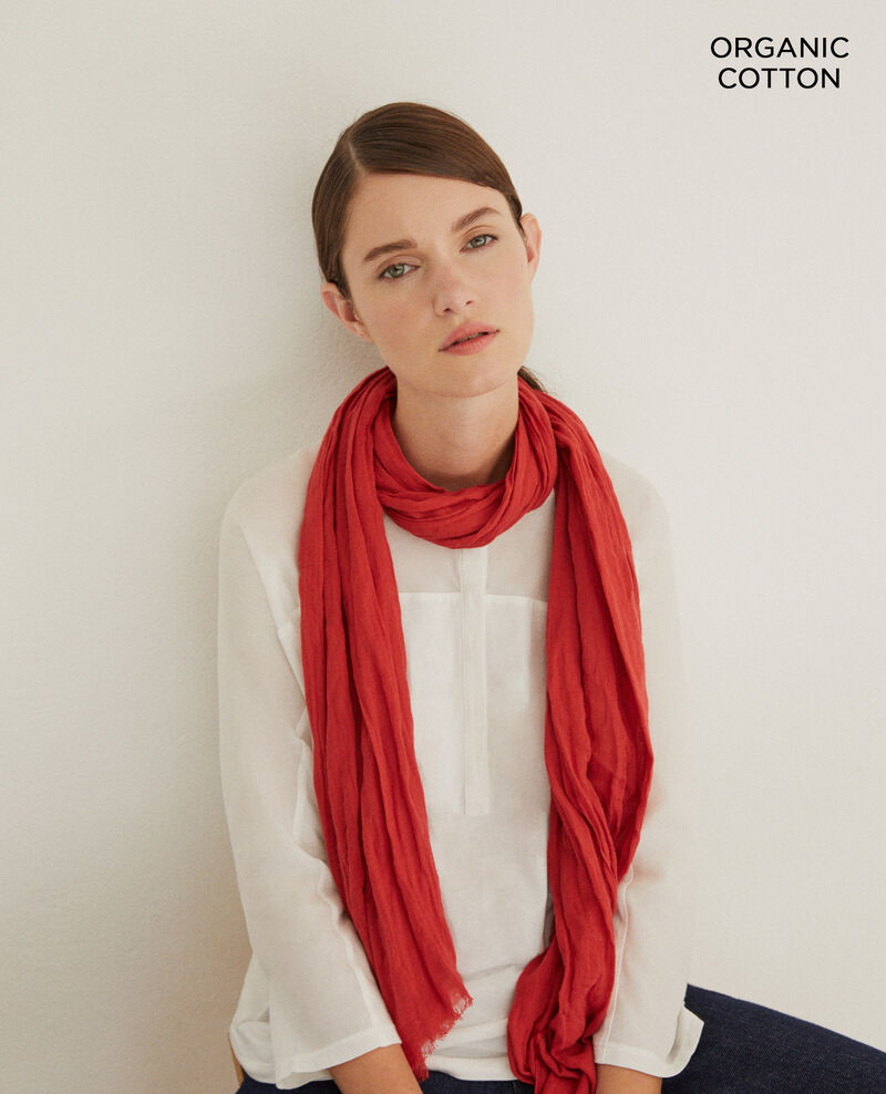 Organic cotton scarf Pompeian red Geste