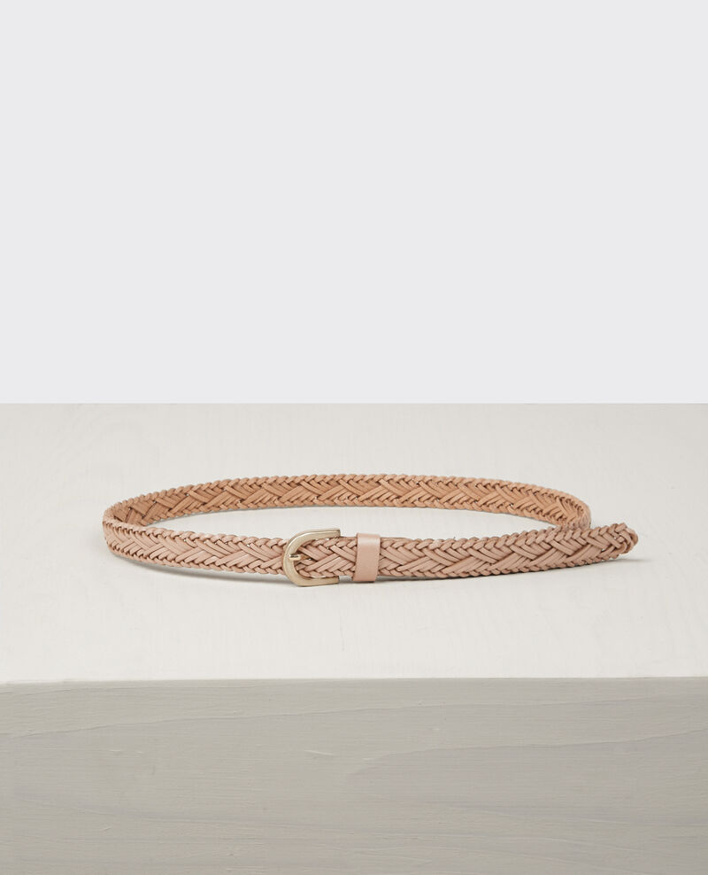 Braided leather belt Seashell Cancan