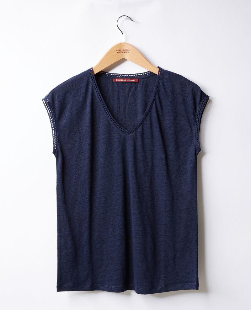 Linen T-shirt Marine Fevian