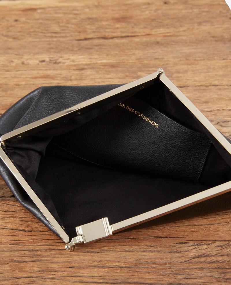 Leather clutch bag Noir Fetiche