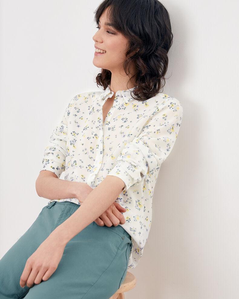 Printed silk shirt LILLYBELL KAOLIN