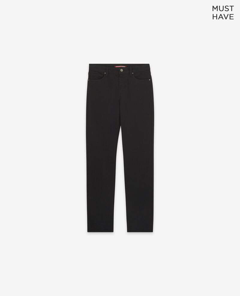 Soft touch cigarette fit jeans Noir Dhanna