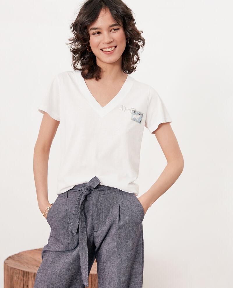 Léon T-shirt Off white Fimbre