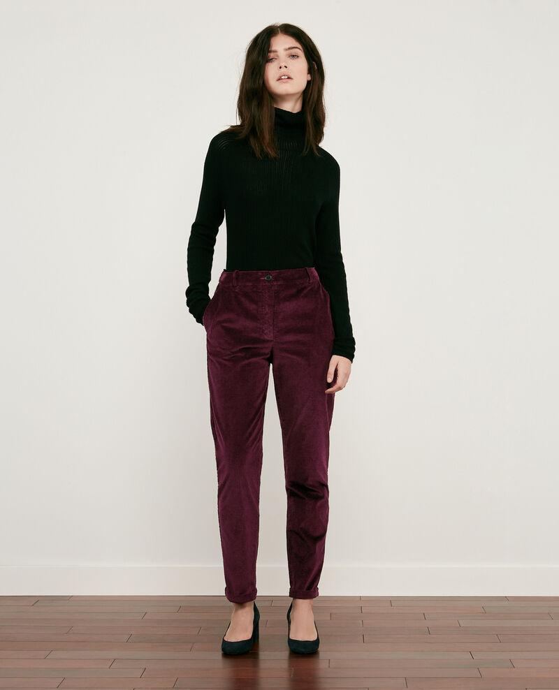 Corduroy trousers BURGUNDY