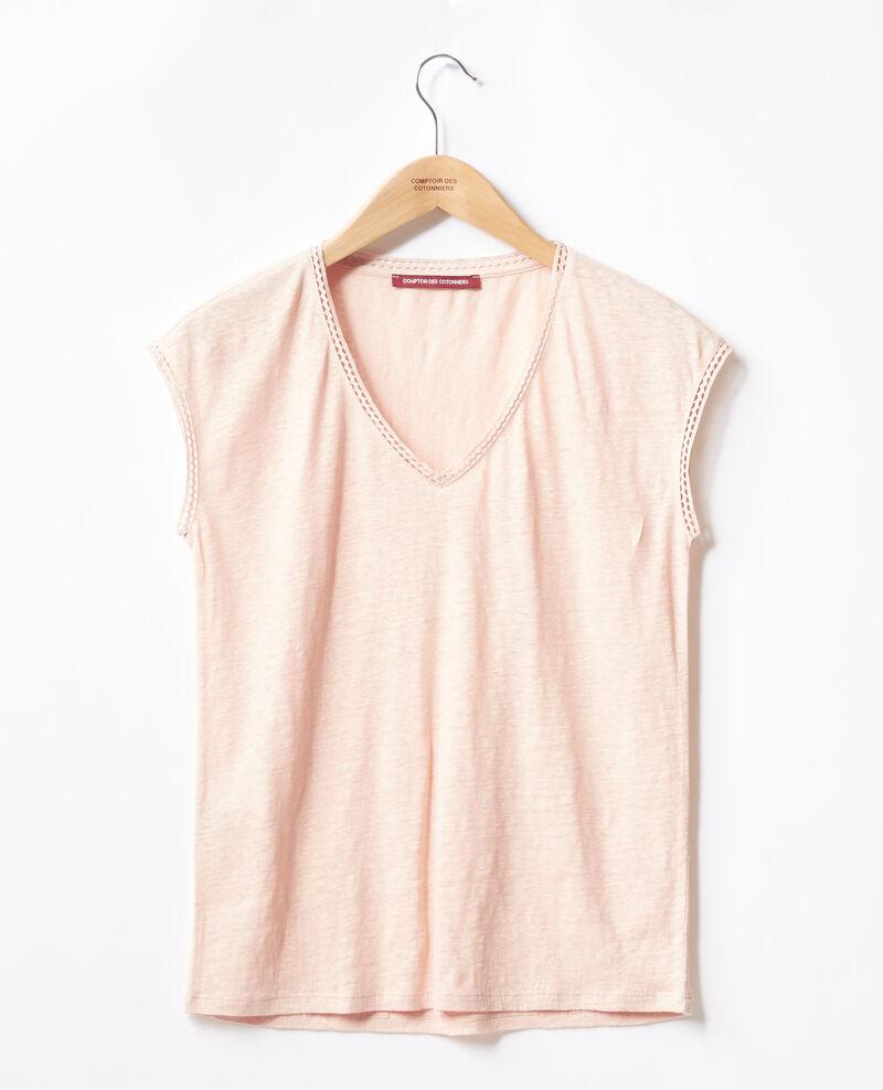 Linen T-shirt NUDE