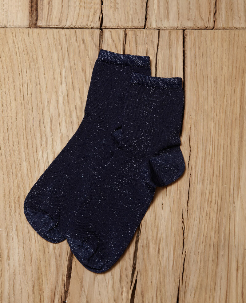 Lurex blend socks Peacoat Gaussette