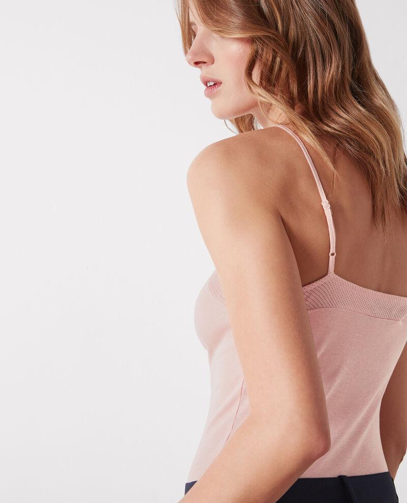 Jersey vest top Peach Cayenne