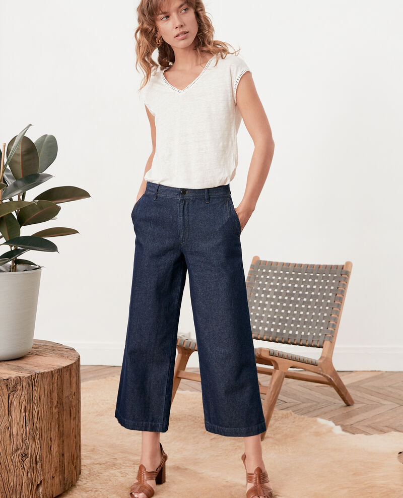 Wide cropped jeans INDIGO