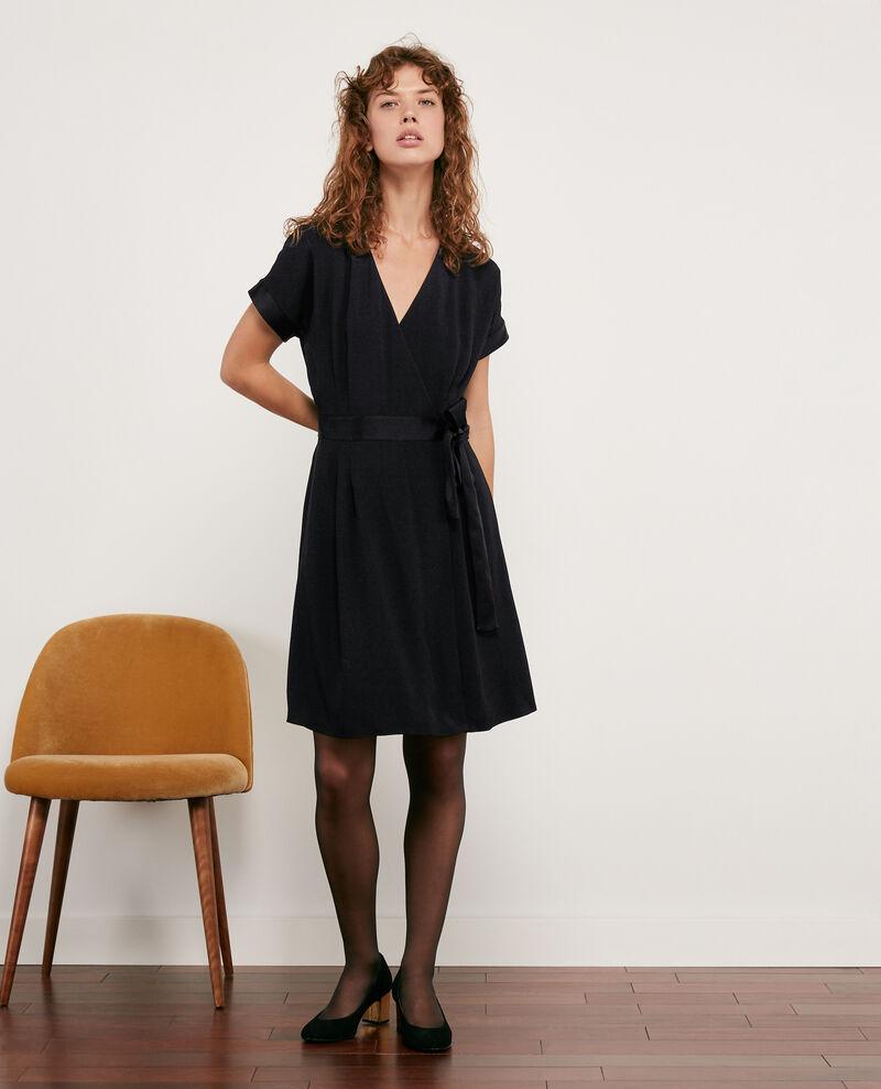 Wrapover dress Noir Dannecha