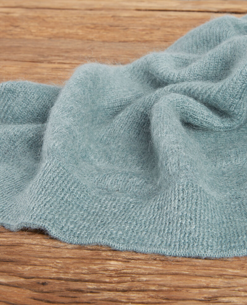 Scarf with mohair and wool Dark celadon Frileux