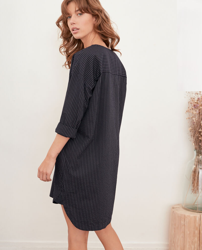 Striped tunic Navy/off white stripes Facette