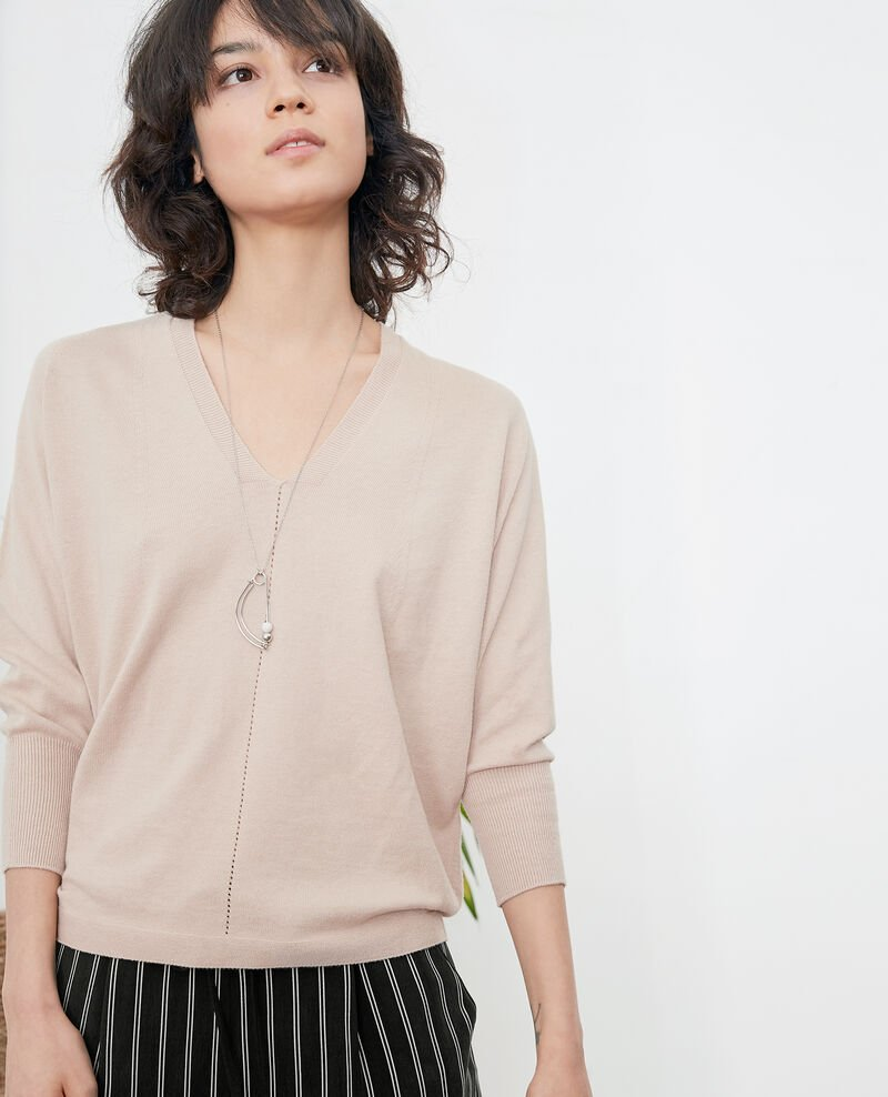 Jumper with 3/4 sleeves TAN