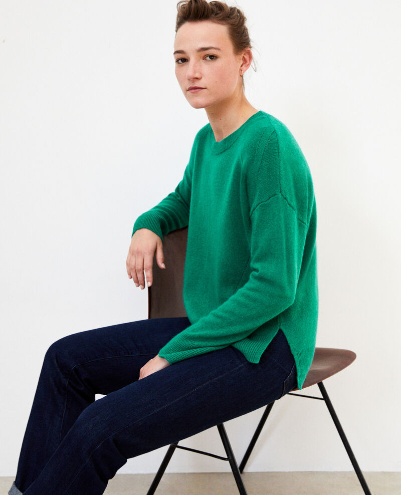 Cashmere jumper ULTRA GREEN
