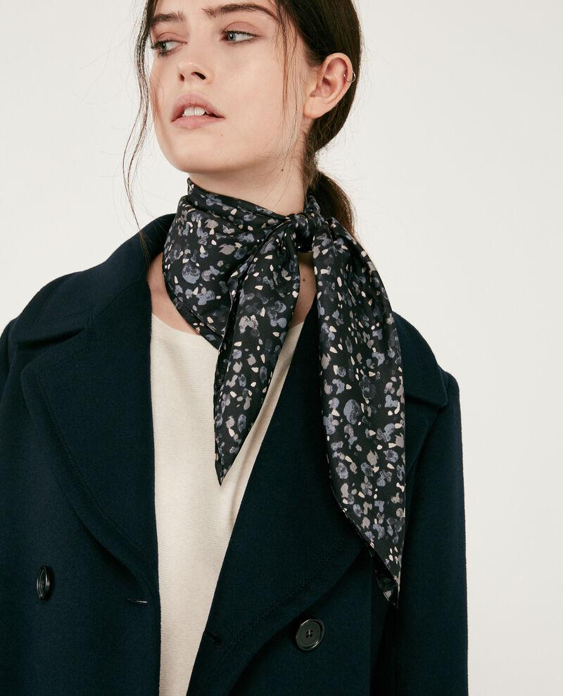 Printed silk scarf Wildcat black Delabarile